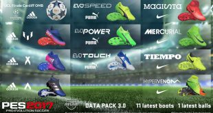 PES 2017 Data Pack 3 Boots