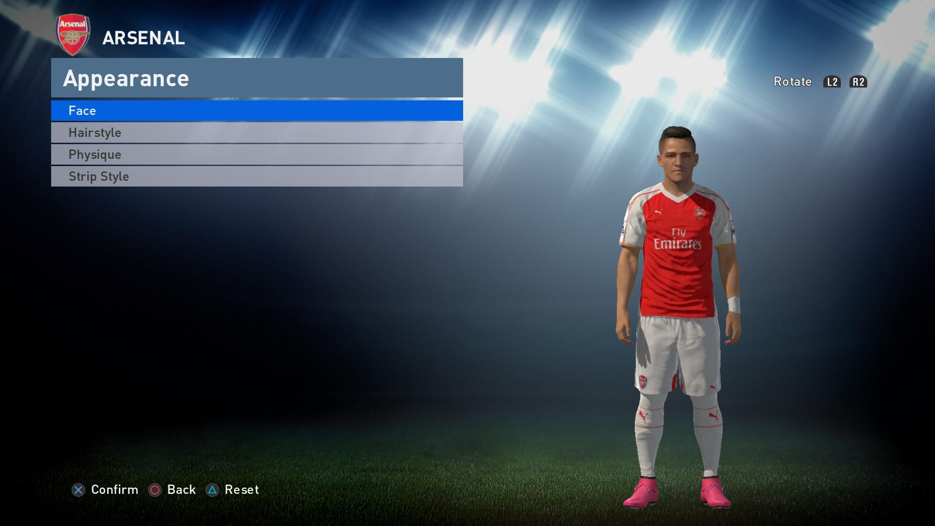 PES 2016 - Arsenal Kit