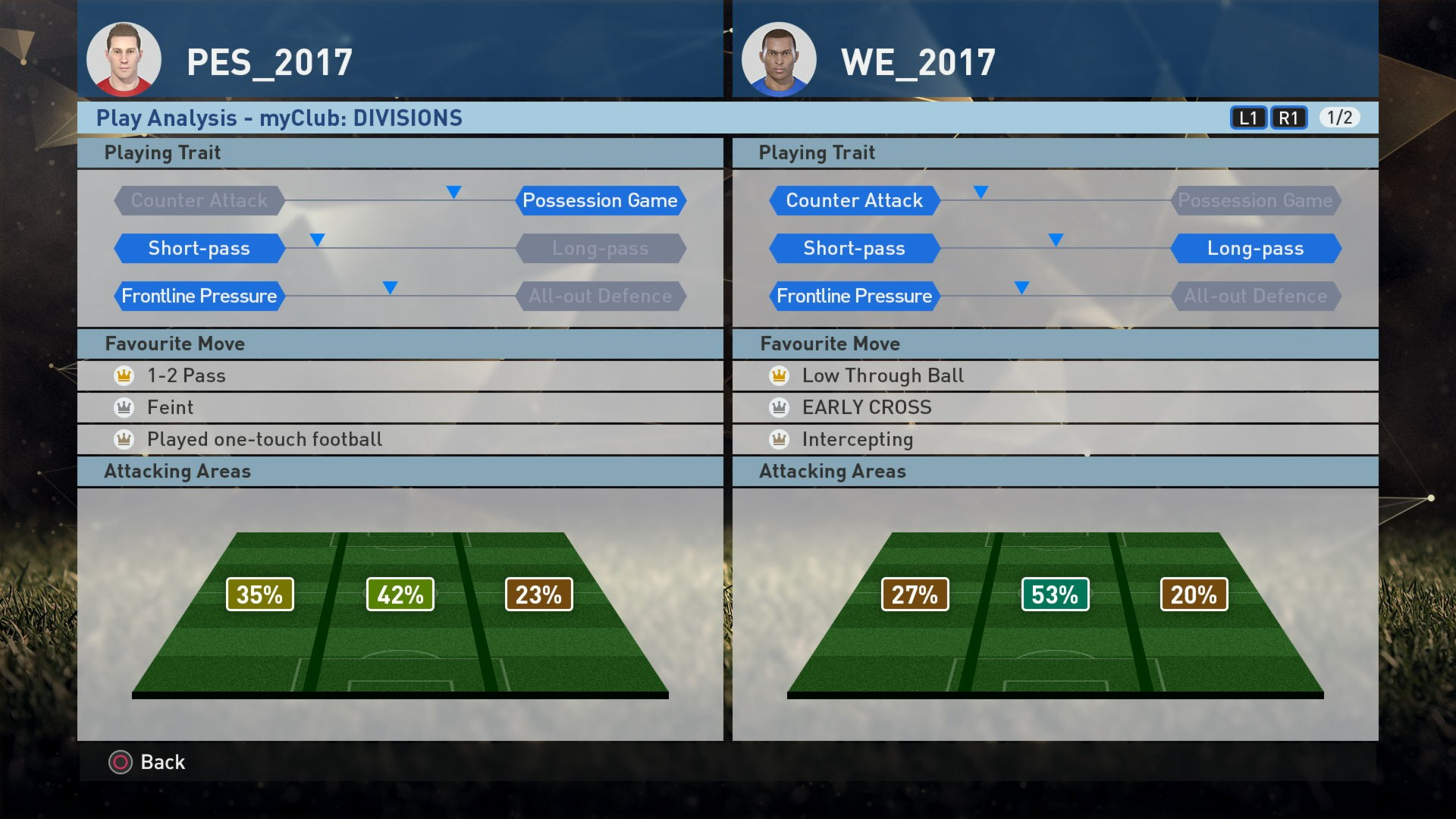PES 2017 Playing Trait