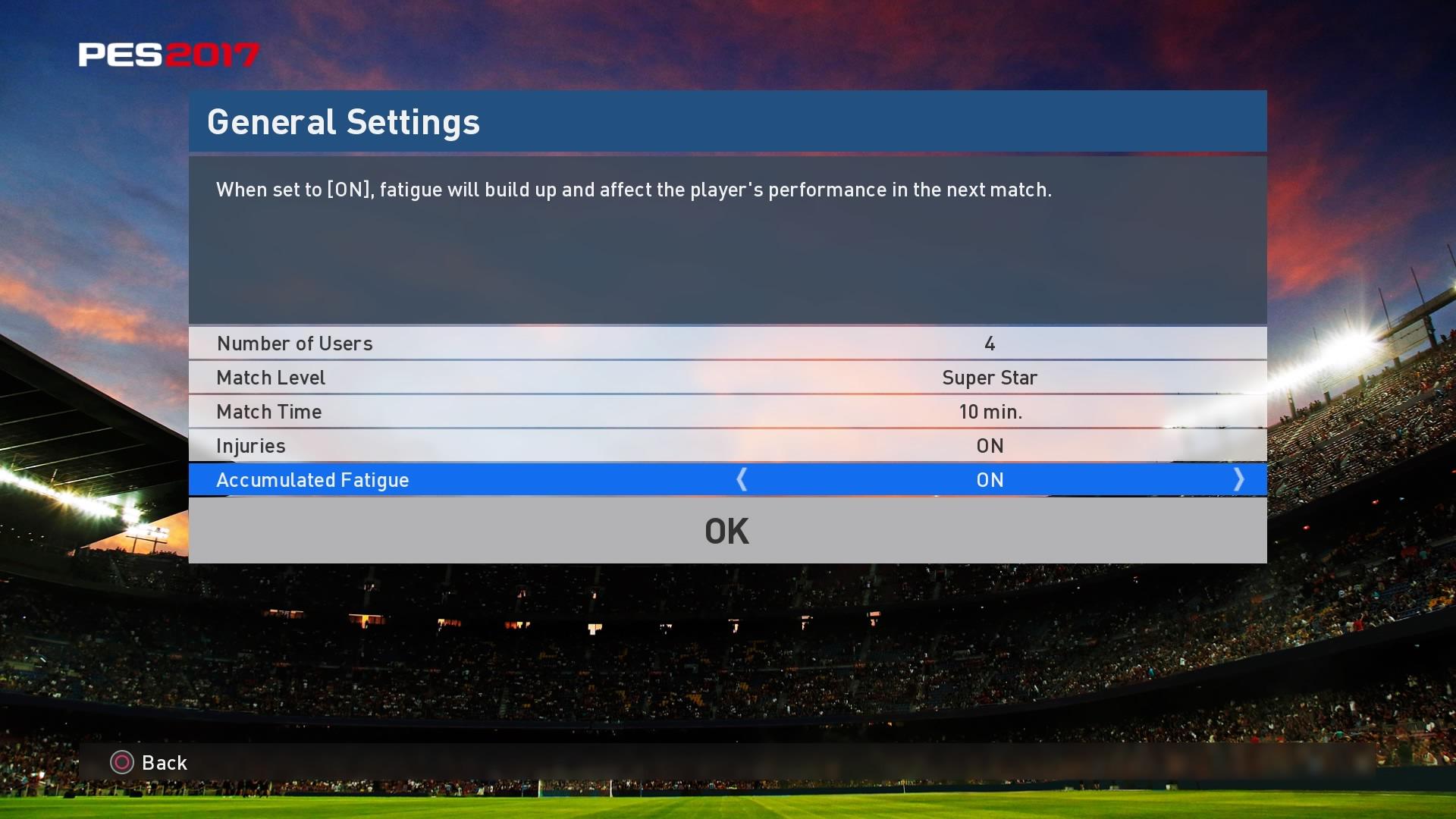 Custom League PES 2017 - Options 2