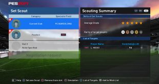 Scout Combinations myClub - Messi