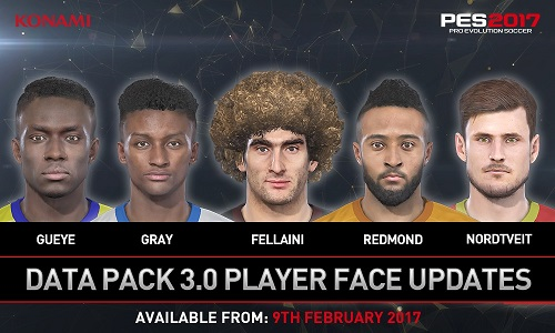PES 2017 Data Pack 3 Faces