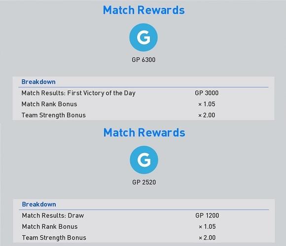 myClub Match Rewards GP