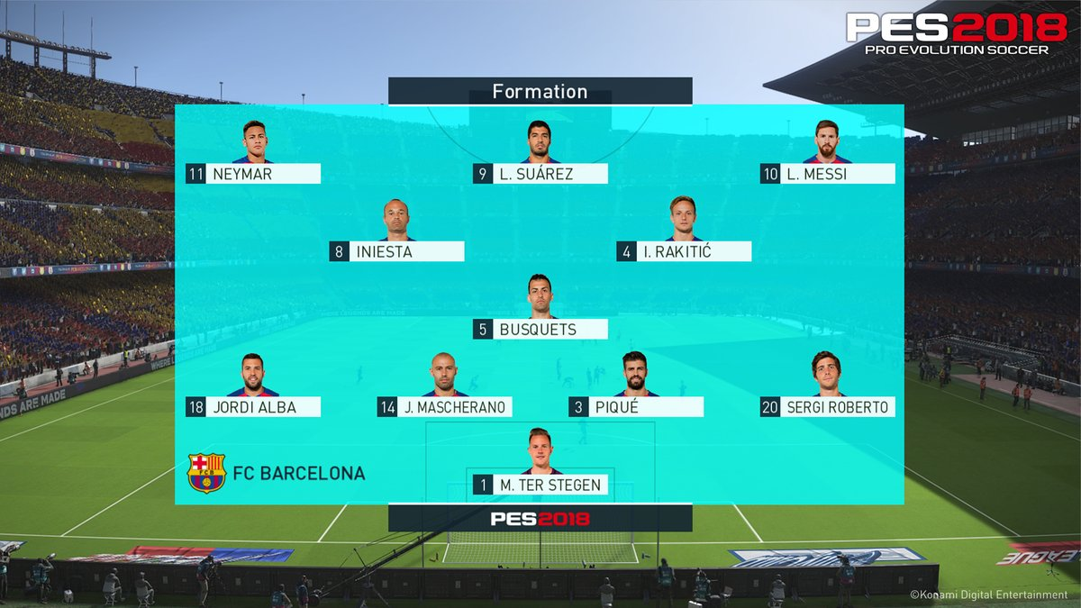 PES 2018 Formation