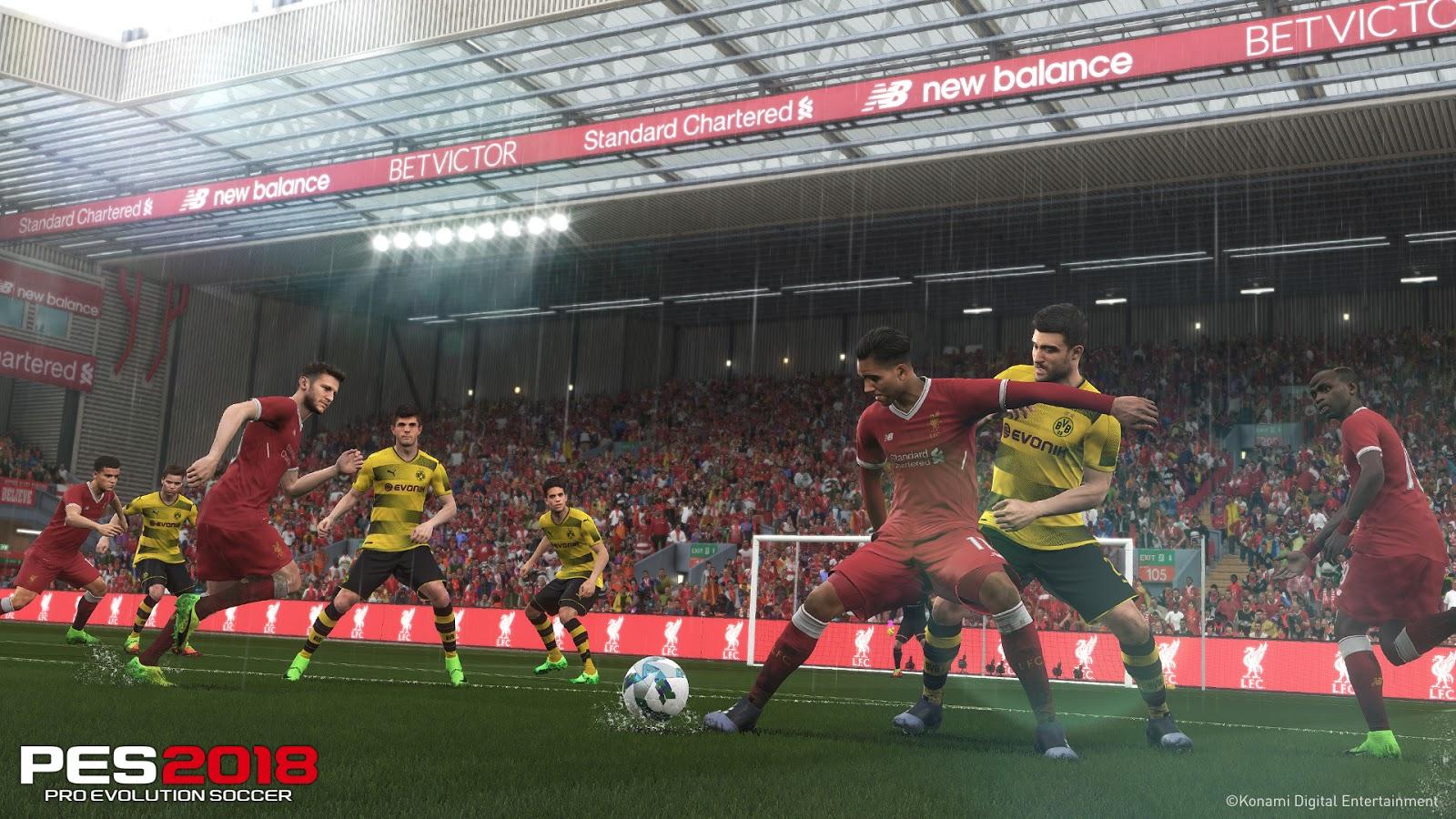 PES 2018 Liverpool Dortmund