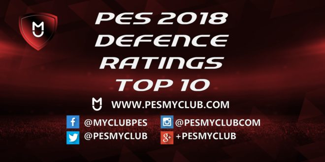 PES 2018 Defence Ratings
