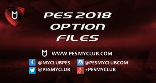PES 2018 Option File