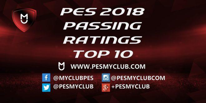 PES 2018 Passing Ratings