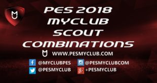 PES 2018 Scout Combinations