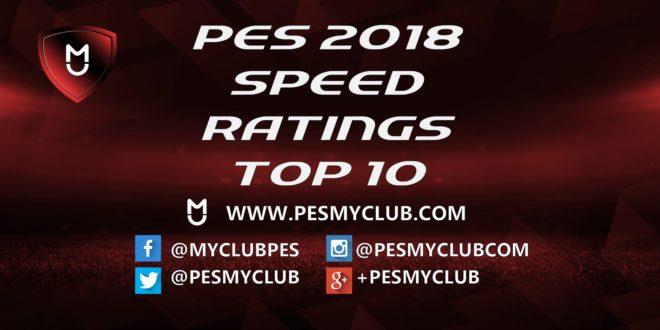 PES 2018 Speed Ratings - Top 10 Players | PESmyClub