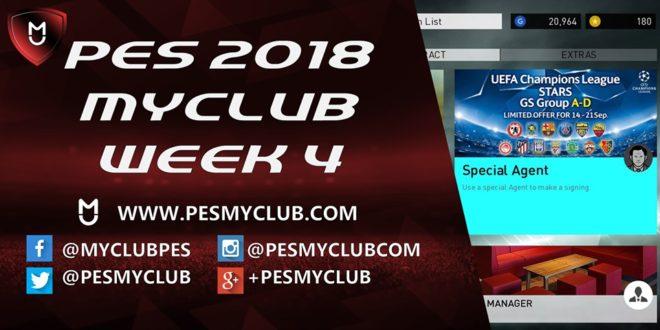 PES myClub 2018 Week 4