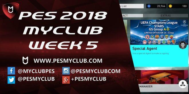 PES myClub 2018 Week 5