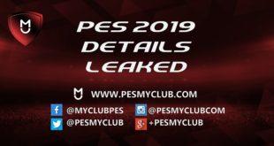 PES 2019 Leaked
