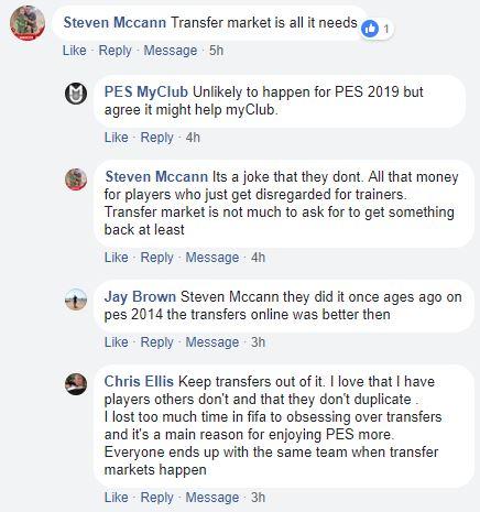 PES myClub Transfer Market