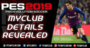 PES 2019 myClub Details
